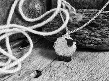 Load image into Gallery viewer, Silver black sheep necklace, individually hand crafted in Wales at Jeffs Jewellers.