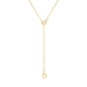 9ct Gold Dainty Loop Lariot Necklace.