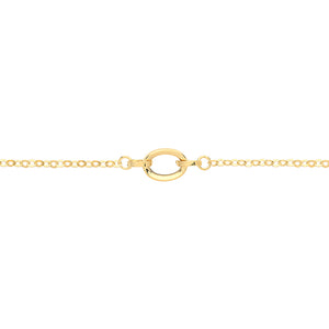9ct Gold Dainty Loop Bracelet.