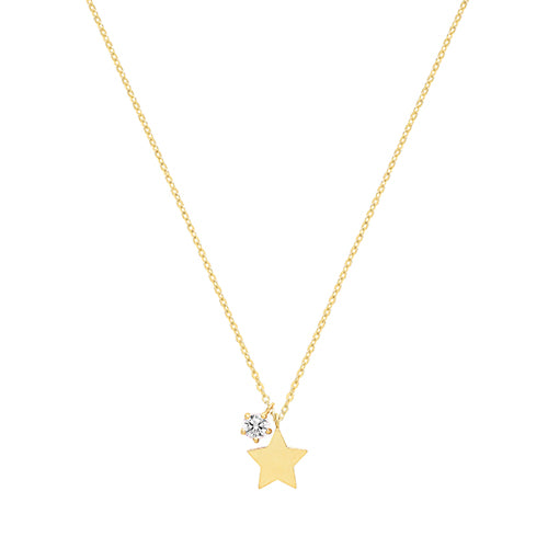 9ct Gold Dainty Star Necklace.