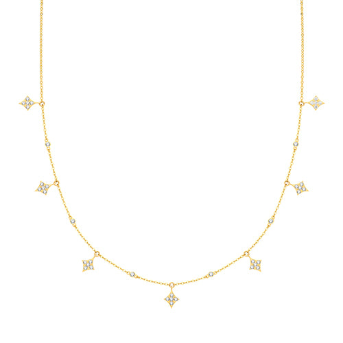 9ct Gold Dainty Dew Drop Necklace.
