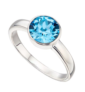 Silver Birthstone Ring March