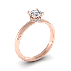 18ct Gold 0.76ct Signature Diamond Solitaire Engagement Ring H/Si. 18ct Rose, Yellow or White Gold.