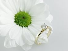 Load image into Gallery viewer, 18ct Gold 0.50ct Diamond Solitaire Engagement Ring H/Si. 18ct Rose, Yellow or White Gold.
