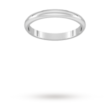 Load image into Gallery viewer, Platinum 2.5mm Traditional D shape Wedding Band.