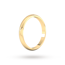Load image into Gallery viewer, 9ct 2mm Yellow Gold Traditional D shape Wedding Band.