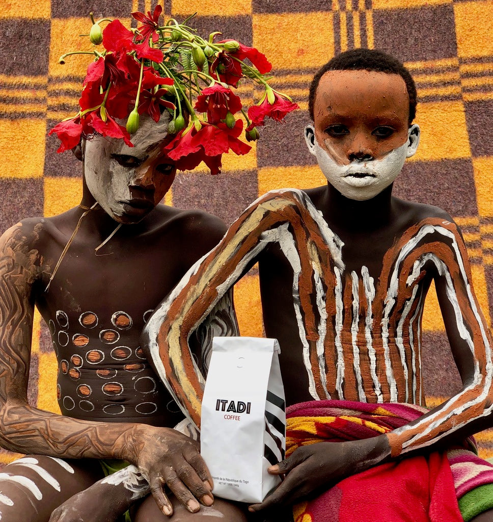 ITADI organic coffee, African art photography, Tabi Bonney