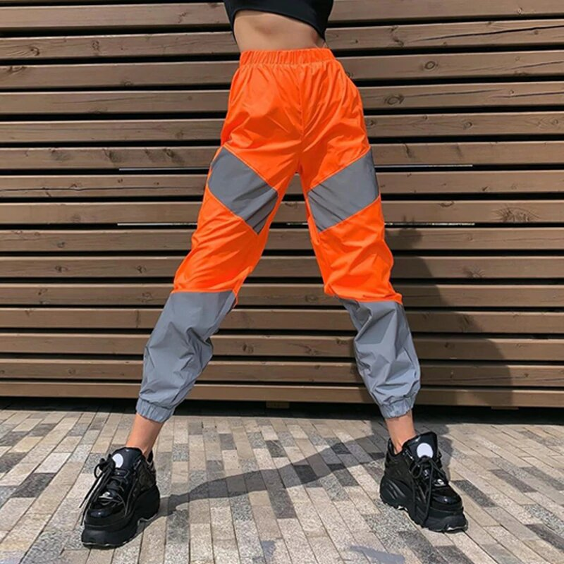 pantalon orange reflective
