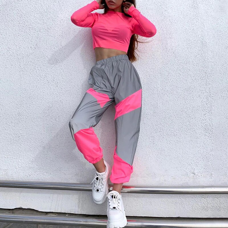pantalon reflective rose