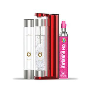 Sparkling Water Maker - Starter Pack- Red - Limited Edition