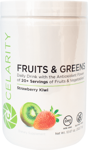 Celarity Power + Fruits and Greens Powder Strawberry