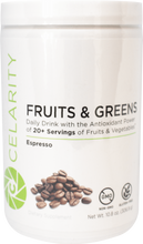 Load image into Gallery viewer, Celarity Power + Fruits and Greens Powder Espresso