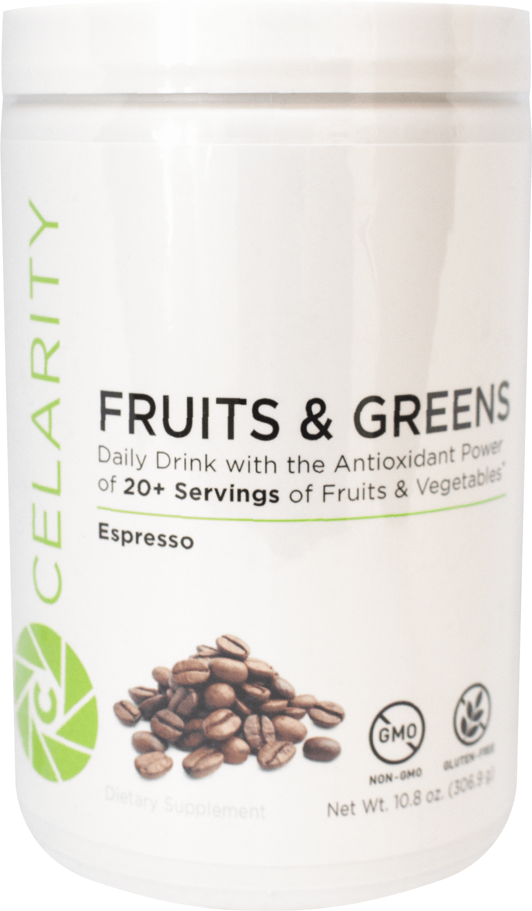 Celarity Power + Fruits and Greens Powder Espresso