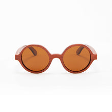 Load image into Gallery viewer, Fabrix Wooden Sunglasses - CLAYTON on Rosewood Front