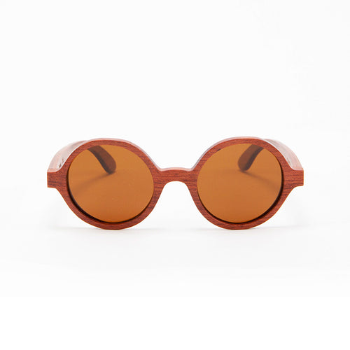 Fabrix Wooden Sunglasses - CLAYTON on Rosewood Front