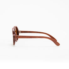 Load image into Gallery viewer, Fabrix Wooden Sunglasses - CLAYTON on Rosewood Side