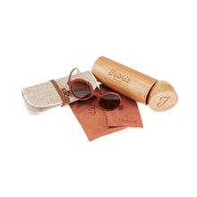 Load image into Gallery viewer, Fabrix Wooden Sunglasses - CLAYTON Rosewood Whats In The Box