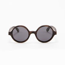 Load image into Gallery viewer, Fabrix Wooden Sunglasses - CLAYTON on Smoky Walnut Front