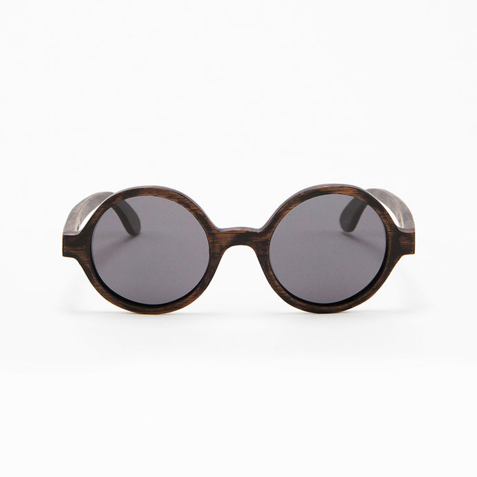 Fabrix Wooden Sunglasses - CLAYTON on Smoky Walnut Front