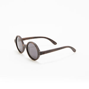 Fabrix Wooden Sunglasses - CLAYTON on Smoky Walnut Perspective
