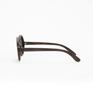 Fabrix Wooden Sunglasses - CLAYTON on Smoky Walnut Side