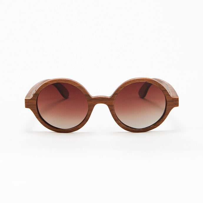 Fabrix Wooden Sunglasses - CLAYTON on Walnut Front