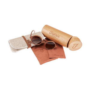 Fabrix Wooden Sunglasses - CLAYTON Walnut Whats In The Box
