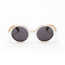 Load image into Gallery viewer, Fabrix Wooden Sunglasses - CLAYTON White on Zebra Front