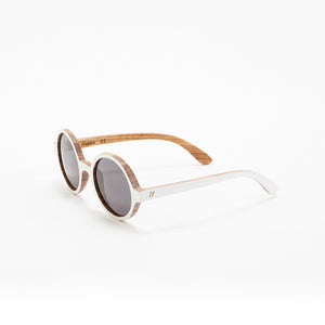 Fabrix Wooden Sunglasses - CLAYTON White on Zebra Perspective