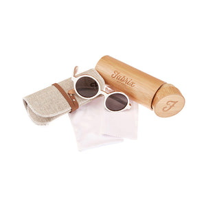 Fabrix Wooden Sunglasses - CLAYTON White on Zebra Whats In The Box