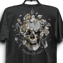 Load image into Gallery viewer, Memento Mori Unisex Triblend T-Shirt - Charcoal-Black