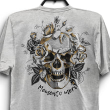 Load image into Gallery viewer, Memento Mori Unisex Triblend T-Shirt - White Fleck