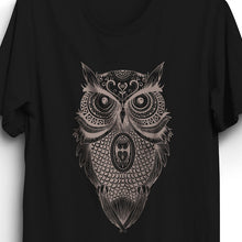 Load image into Gallery viewer, Fabrix Apparel Owl T-Shirt Black Zoom