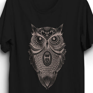 Fabrix Apparel Owl T-Shirt Black Zoom