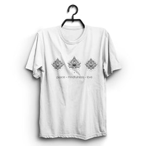 Fabrix Apparel Peace Mindfulness Love White