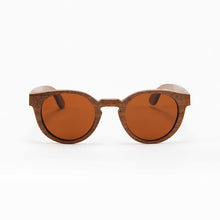 Load image into Gallery viewer, Fabrix Wooden Sunglasses - GRACE on Walnut Front