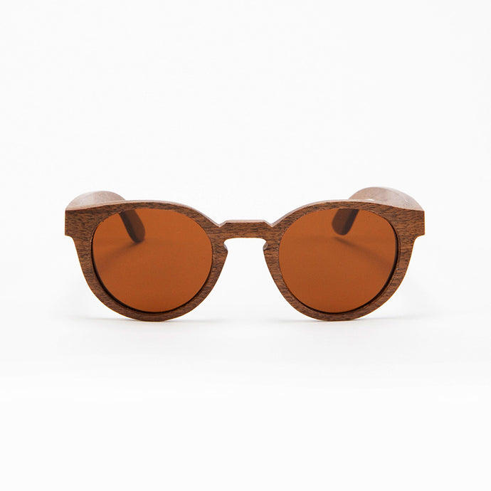 Fabrix Wooden Sunglasses - GRACE on Walnut Front