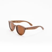 Load image into Gallery viewer, Fabrix Wooden Sunglasses - GRACE on Walnut Perspective