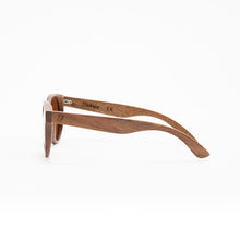 Load image into Gallery viewer, Fabrix Wooden Sunglasses - GRACE on Walnut Side