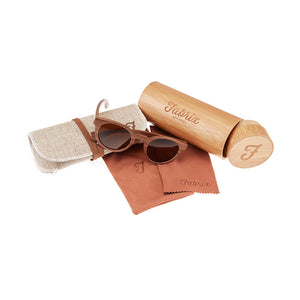 Fabrix Wooden Sunglasses - GRACE Walnut Whats In The Box