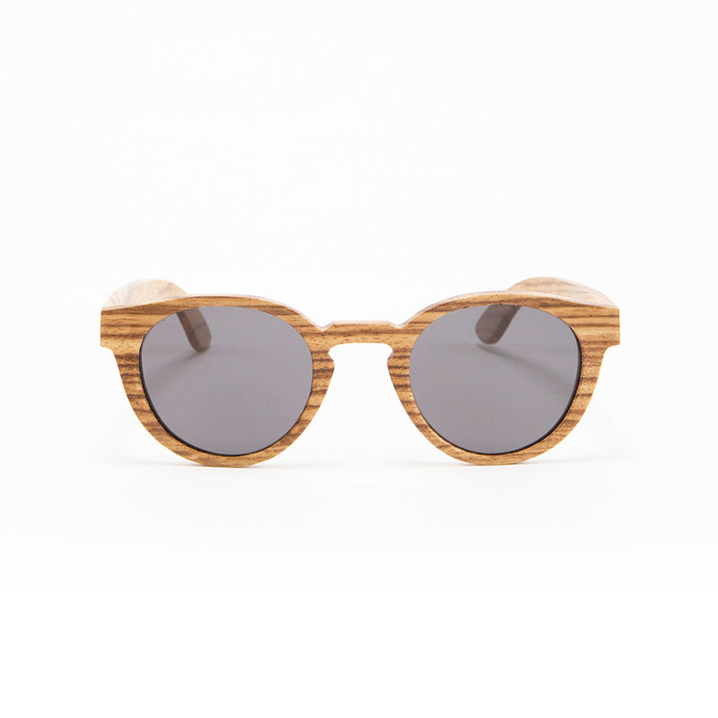 Fabrix Wooden Sunglasses - GRACE on Zebra Front