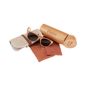 Fabrix Wooden Sunglasses - JARVIS Oak Whats In The Box