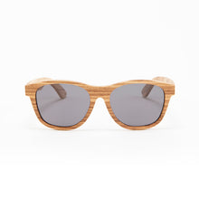 Load image into Gallery viewer, Fabrix Wooden Sunglasses - JARVIS on Zebra Front