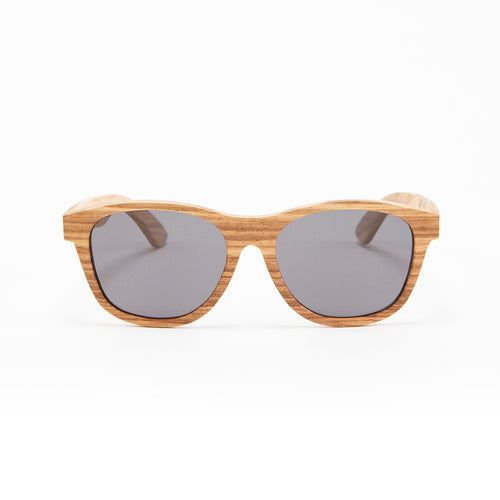 Fabrix Wooden Sunglasses - JARVIS on Zebra Front