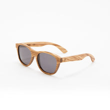 Load image into Gallery viewer, Fabrix Wooden Sunglasses - JARVIS on Zebra Perspective