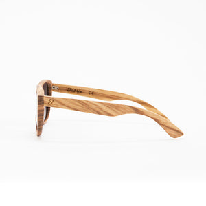 Fabrix Wooden Sunglasses - JARVIS on Zebra Side