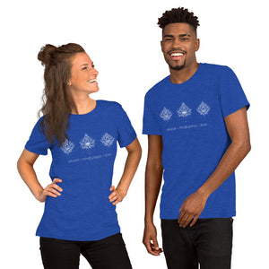 Fabrix Apparel Peace Mindfulness Love Heather Royal Couple