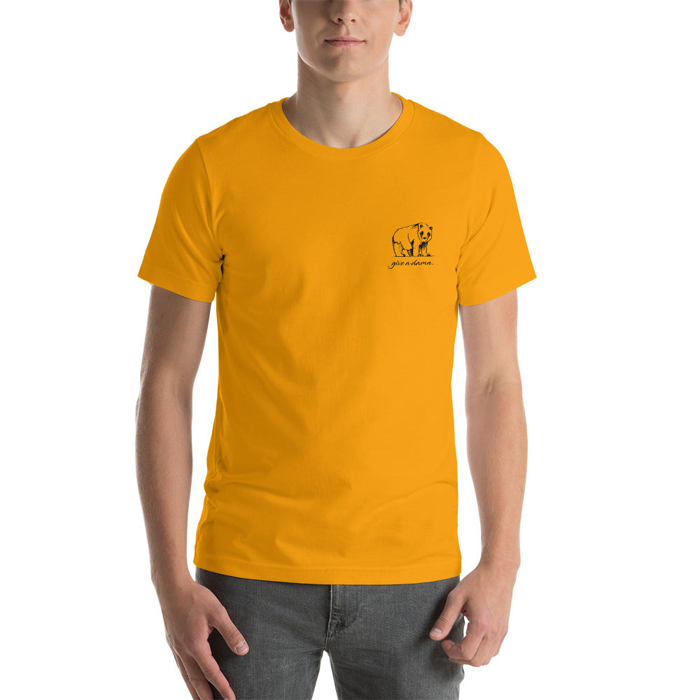 Give A Damn Unisex T-Shirt - Orange