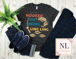 Hooked On Fishing Shirt - Customizable