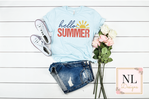 Hello Summer Distressed